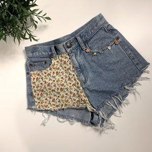 Vintage Liz Claiborne distressed cut offs jeans